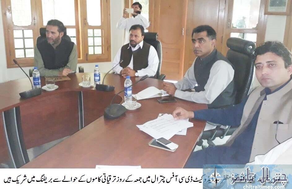 KP Minister Finance chitral visit