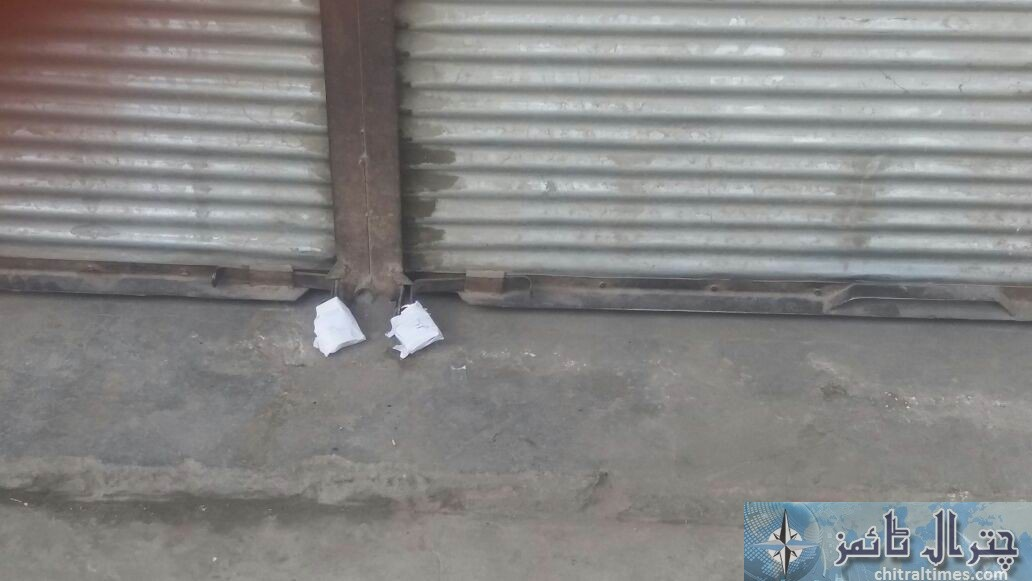 chitral bazar checking shops sealed by ac