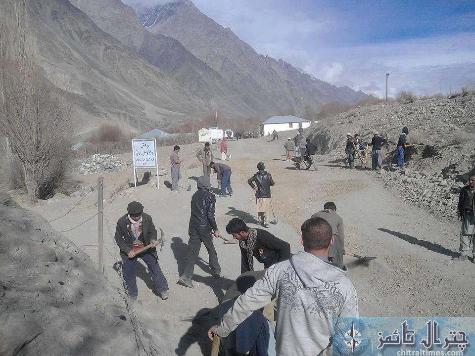 ismaili volunteers on social work chitral