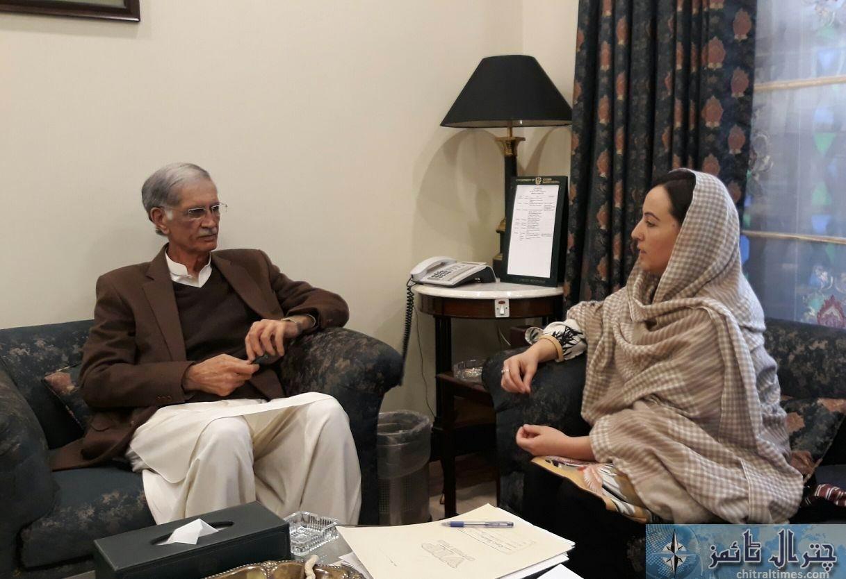 MPA Chitral Bibi Fouzia met CM Kp