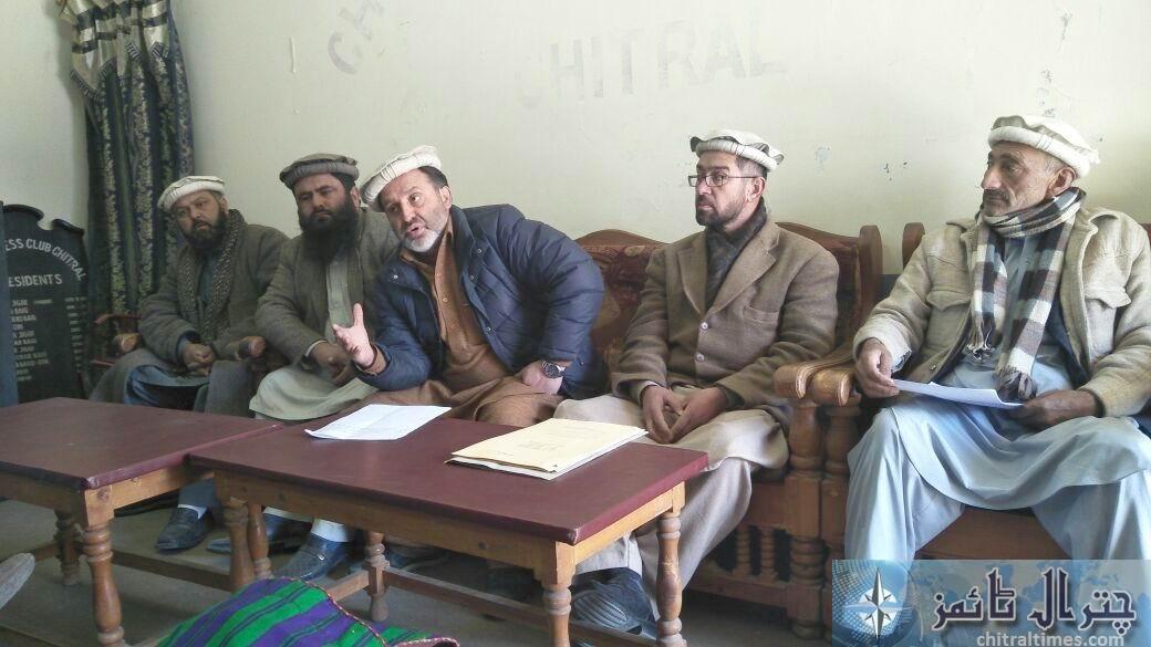 Shabir ahmad press confrence chitral2