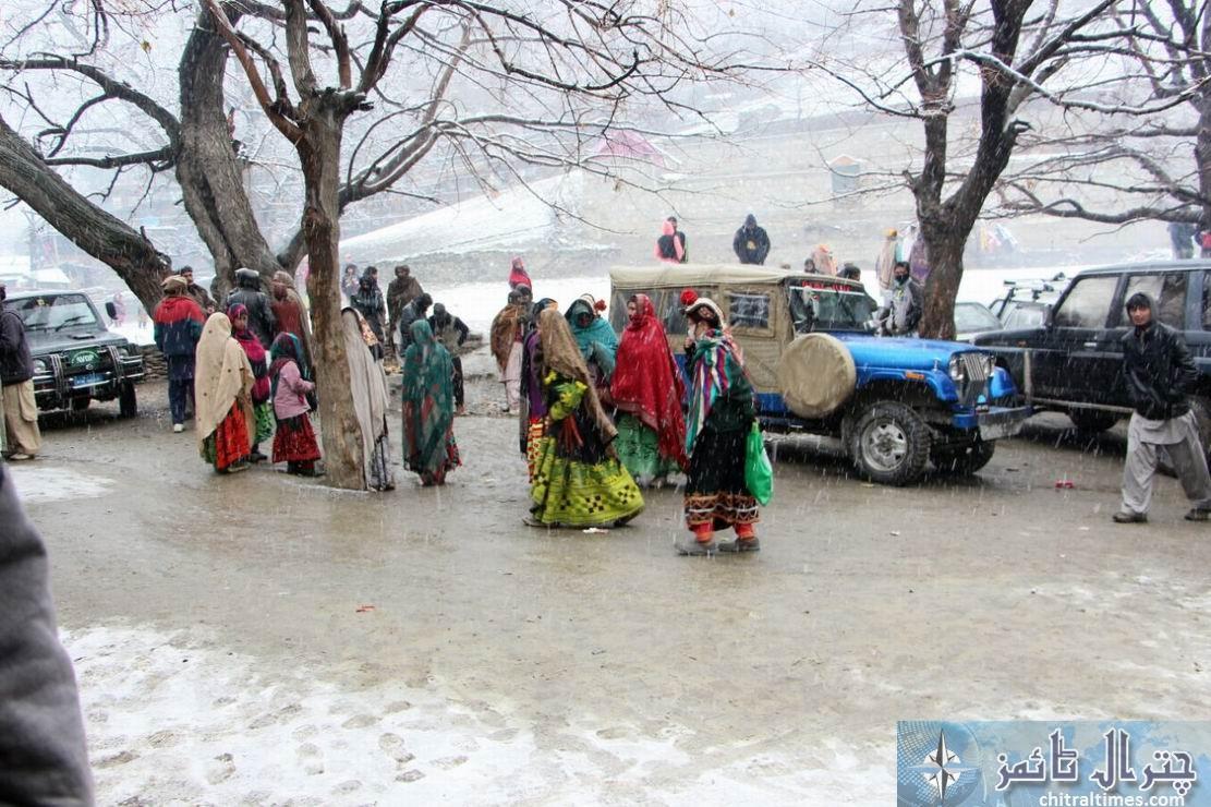 kalash weather snow fall chitral 1