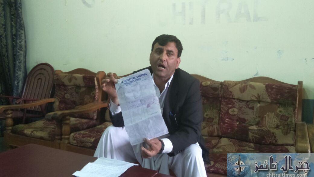 wiqas ahmad advocate press confrence Chitral 2