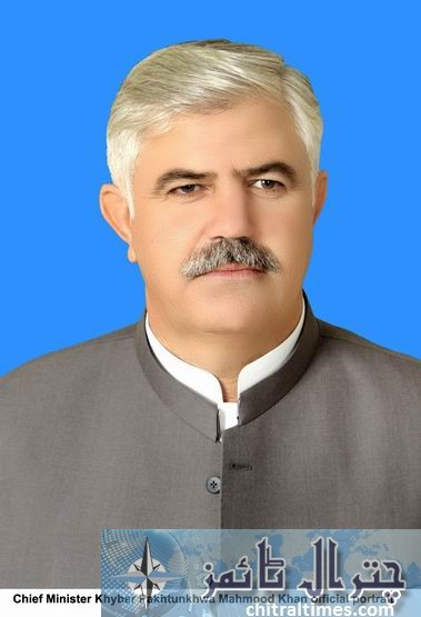 cm Chief Minister Khyber Pakhtunkhwa Mahmood Khan official portrait