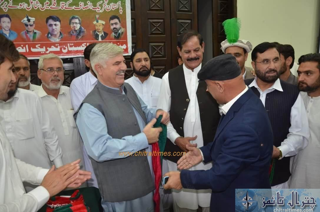 sartaj ahmad khan and other joined pti chitral 6 1
