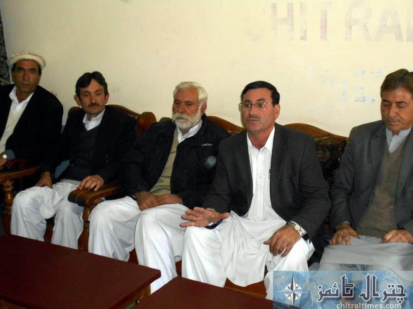 ppp Saleem khan press confrence Chitral 3