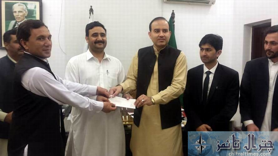 booni and chitral bar received cheque