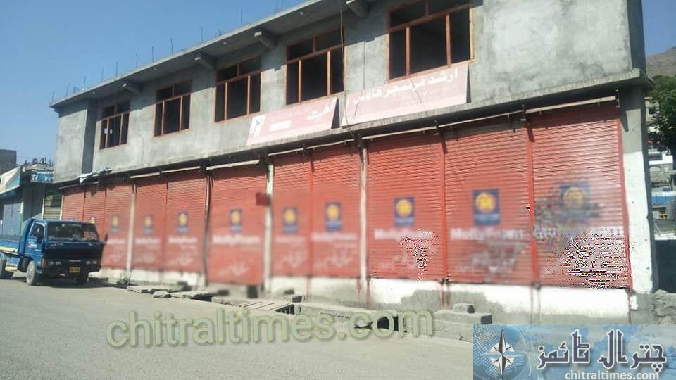 Chitral bazar shutter down strike2