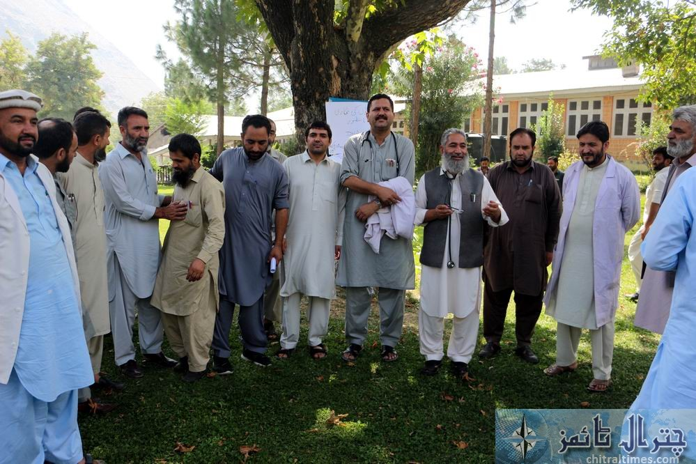 chitral doctors protest against privatization of hospitals 3