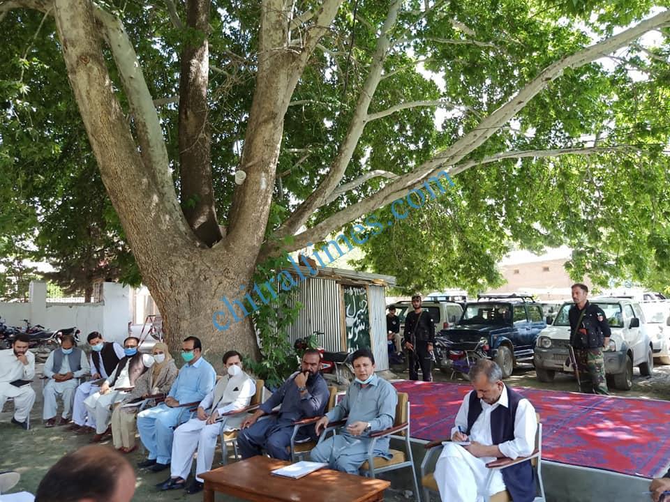 dc upper chitral shah saood meeting on broghil festival