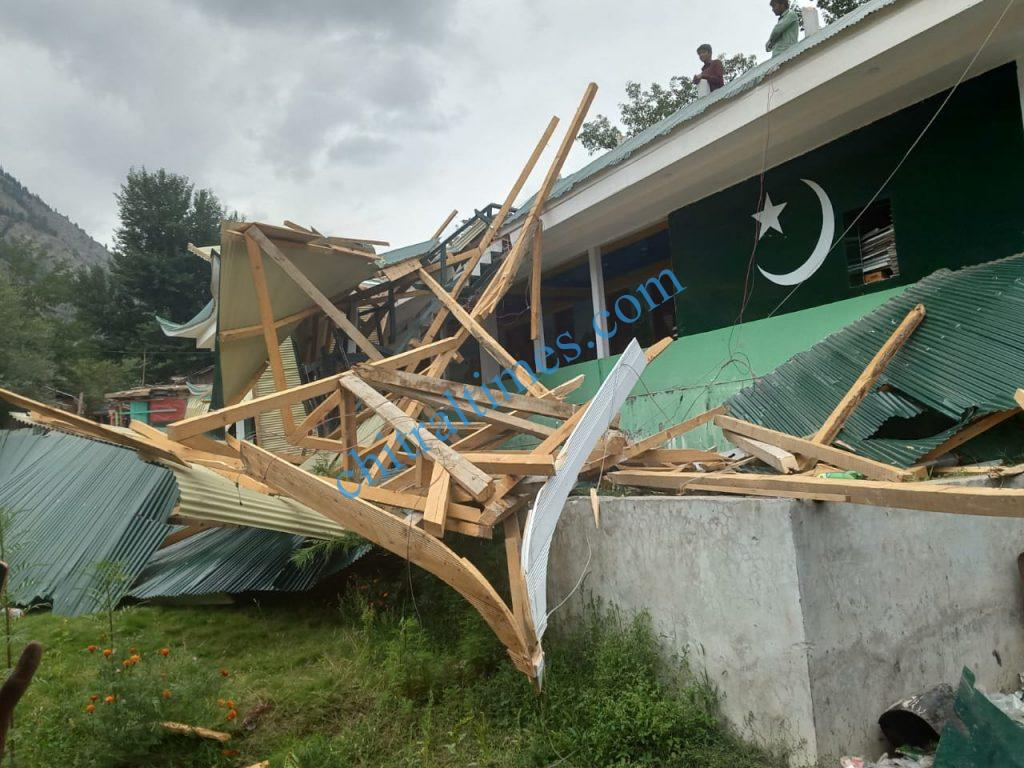 hotel demolished in kalash valley chitral scaled