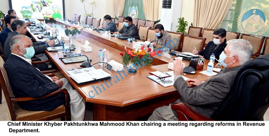 KP CM chaired a meeting on revenue scaled