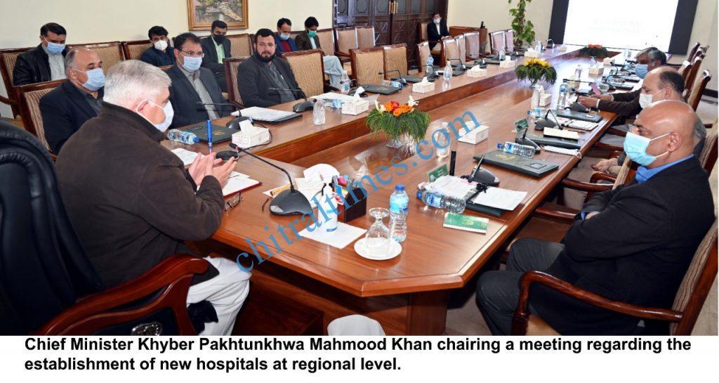 cm kp mahmood meeting on establishment of hospitals scaled