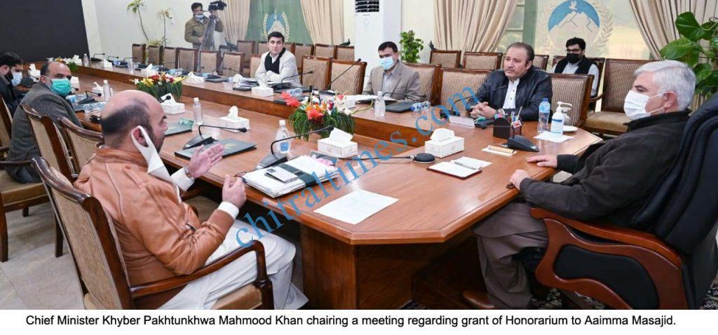 CM kp meeting on masajid aimas honria scaled