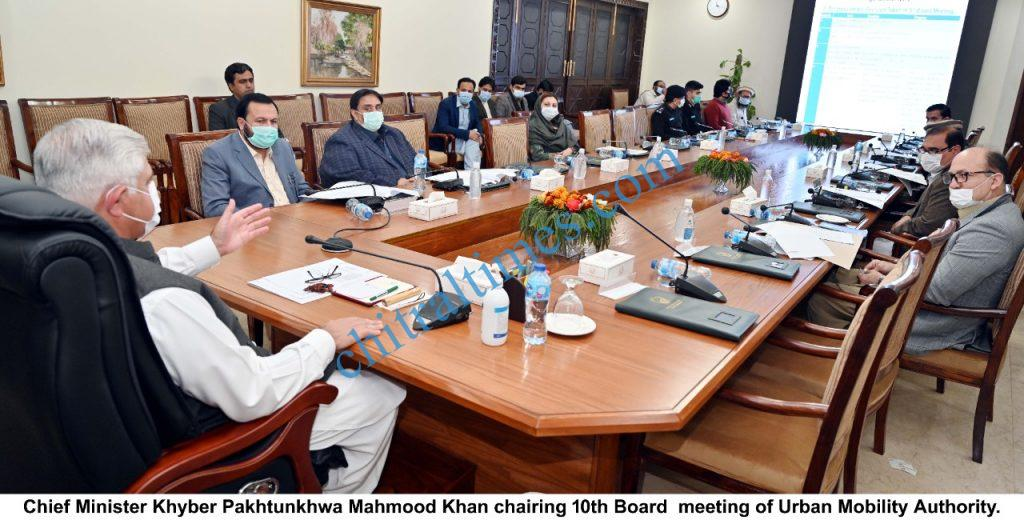 Cm khyber pakhtunkhwa meeting on urban mobility authority scaled