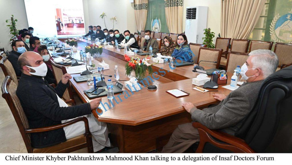 Cm khyber pakhtunkhwa meeting with insaf doctors scaled