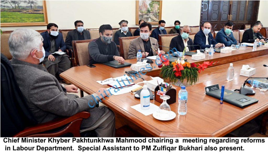 chief minister kp mahmood khan chaired labour departmen scaled
