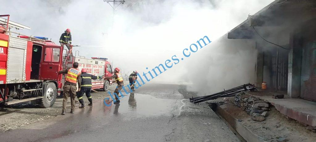 chitral danin cought fire rescue1122 responce scaled