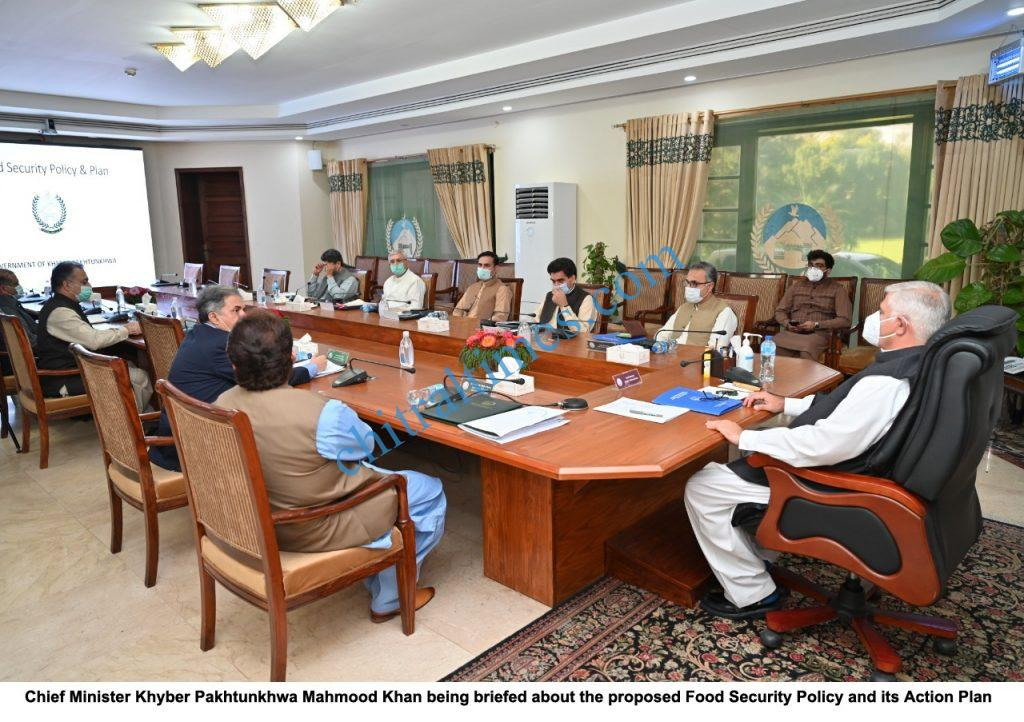 CM chaired meeting food security policy kp scaled