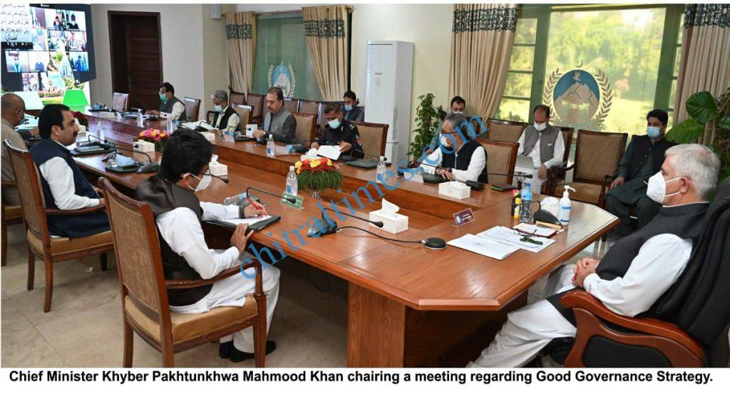 cm meeting on good governence kp scaled