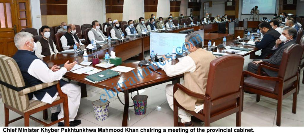 khyber pakhtunkhwa cabinet meeting cm mahmood khan chaired scaled
