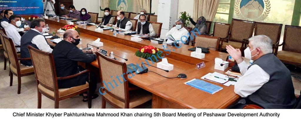 peshawar development boad meeting cm chaired scaled