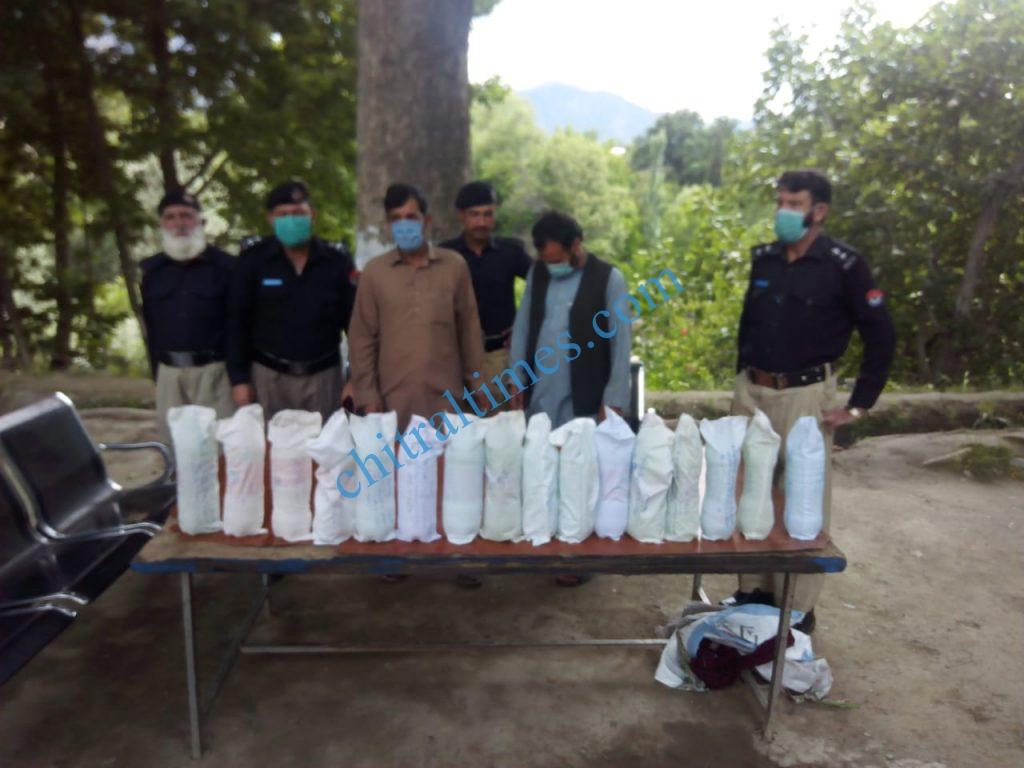 Chitral police ayun seazed alcohil scaled
