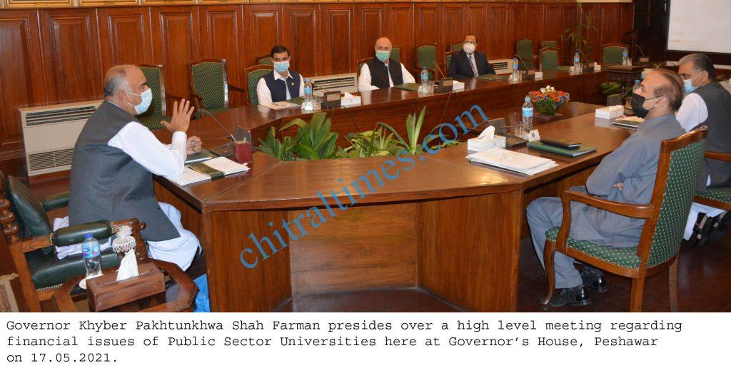 Governor Kp High level meeting on universities financial issues scaled