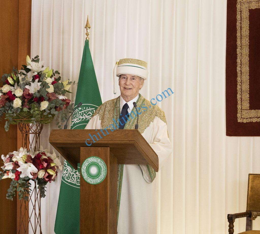 His Highness the Aga Khan scaled