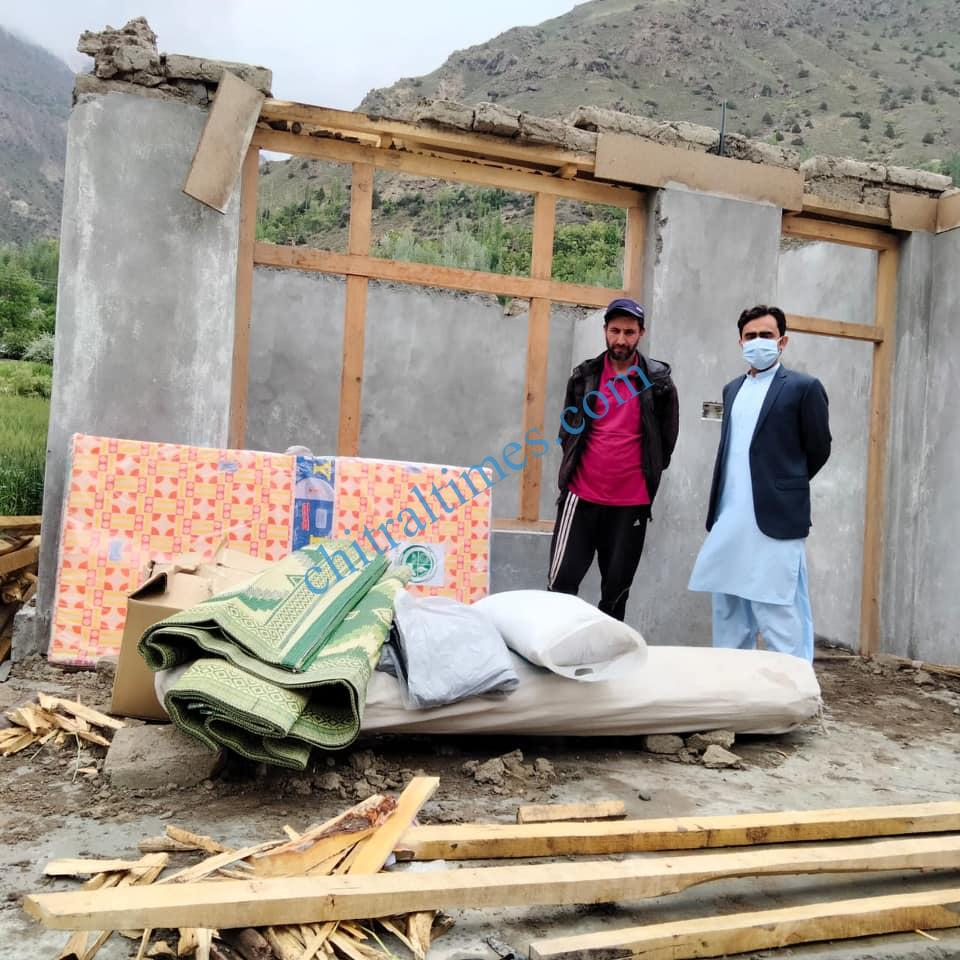 ac mastuj upper chitral visit awi distroyed house
