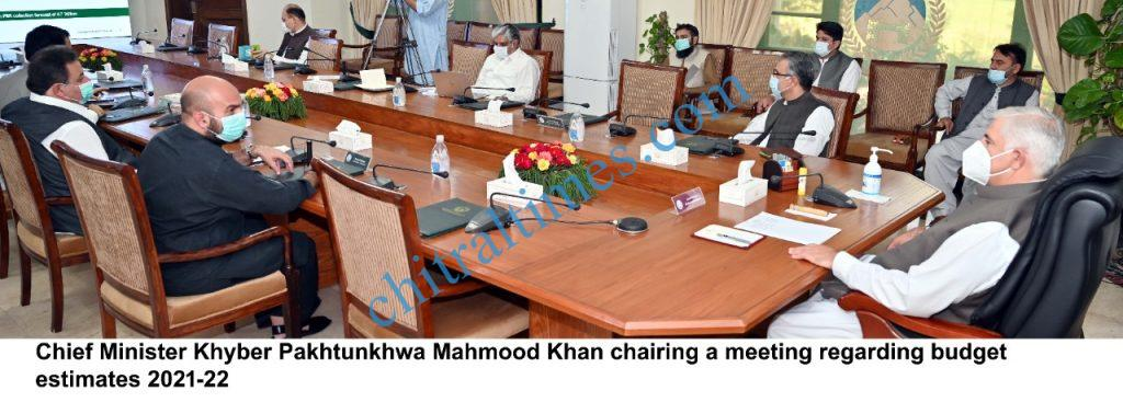 cm kp chaired budget meeting 2021 22 scaled