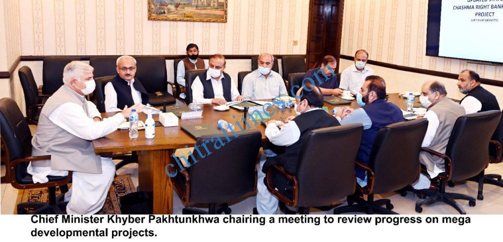 CM KP mahmood khan chair mega development projects scaled