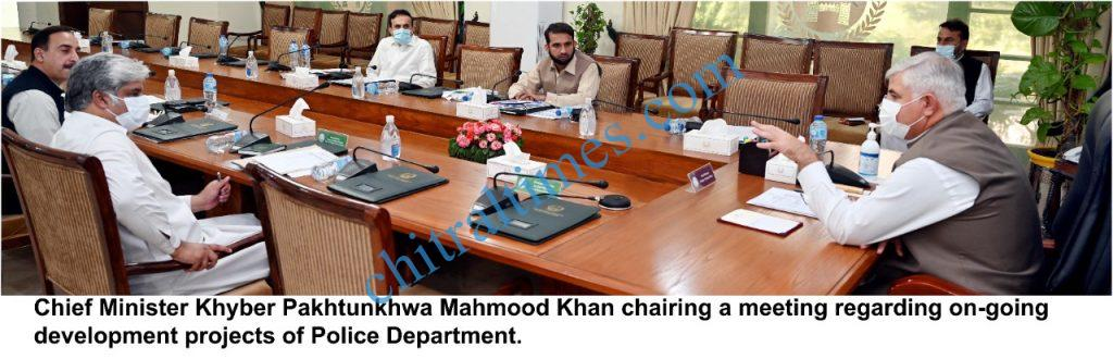 Cm chaired police development projects in kp scaled