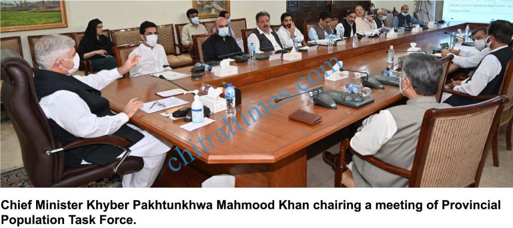 chitral times cm kp mahmood khan chaired provincial population task force scaled