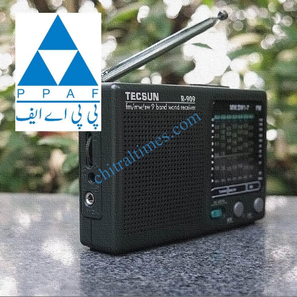 chitraltimes PPAF Radio Programme radio set