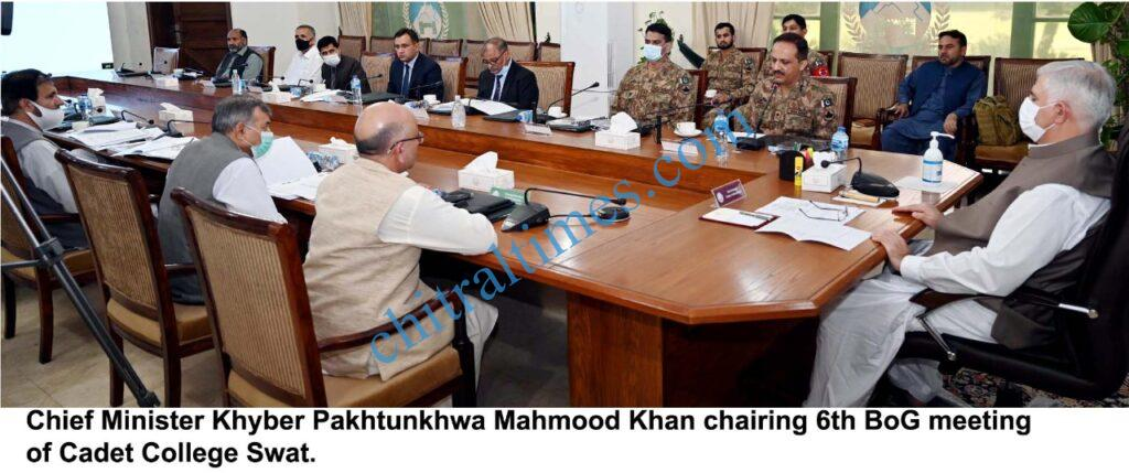 chitraltimes bog cadet college swat cm chaired scaled