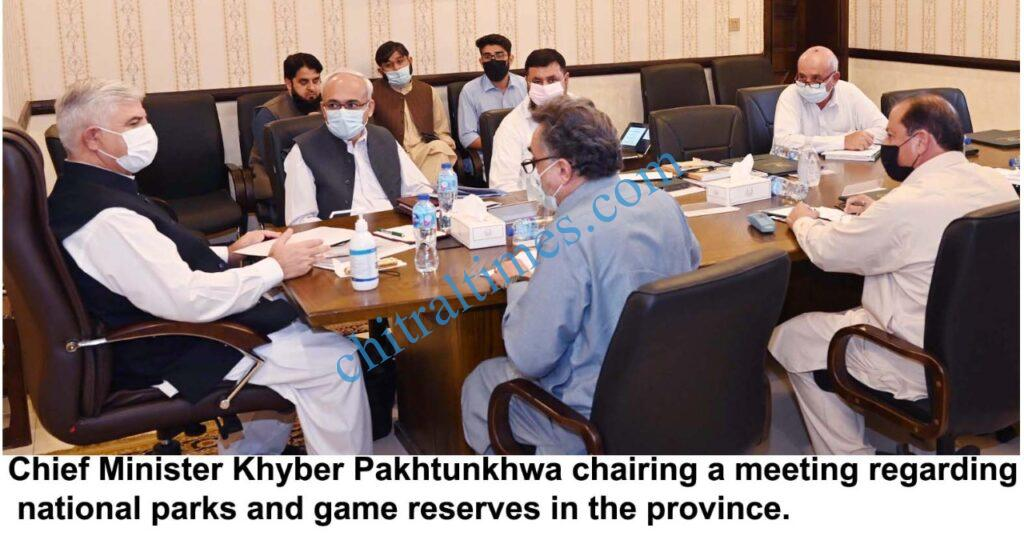 chitraltimes cm kp chaired nationaiol park and wildlife meeting scaled