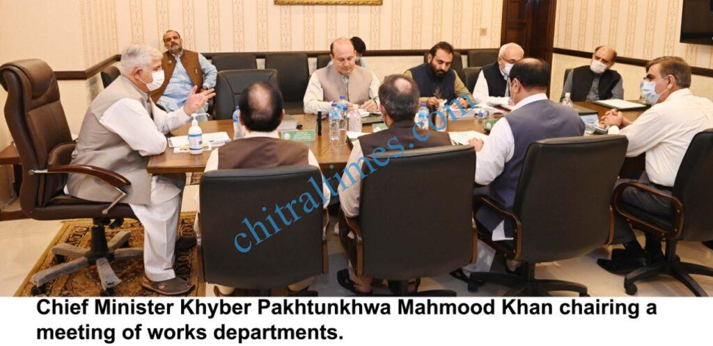 chitraltimes cm mahmood chaired works department scaled