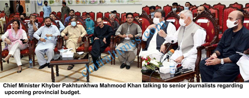 chtiraltimes CM Kp mahmood breafing about cupcoming budget scaled