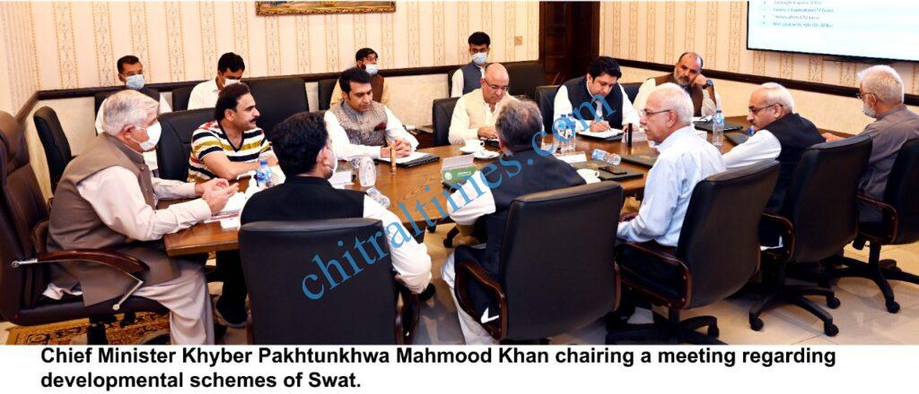 CM Kp mahmood khan chaired meeting on swat development schemes scaled