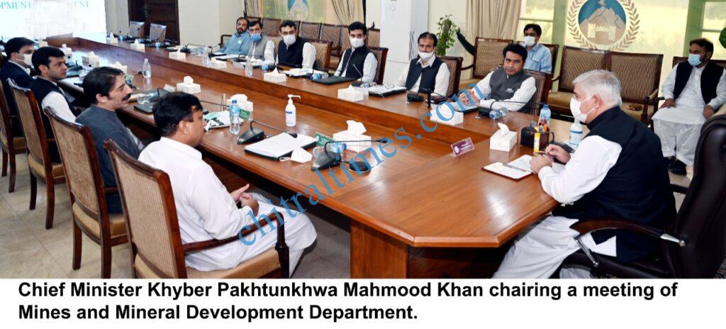 chitraltimes chief minister kp chaired mine and mineral devlopment deprt scaled