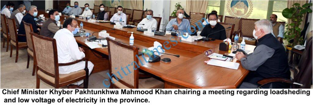 chitraltimes cm chaired meeting on loadsheeding scaled