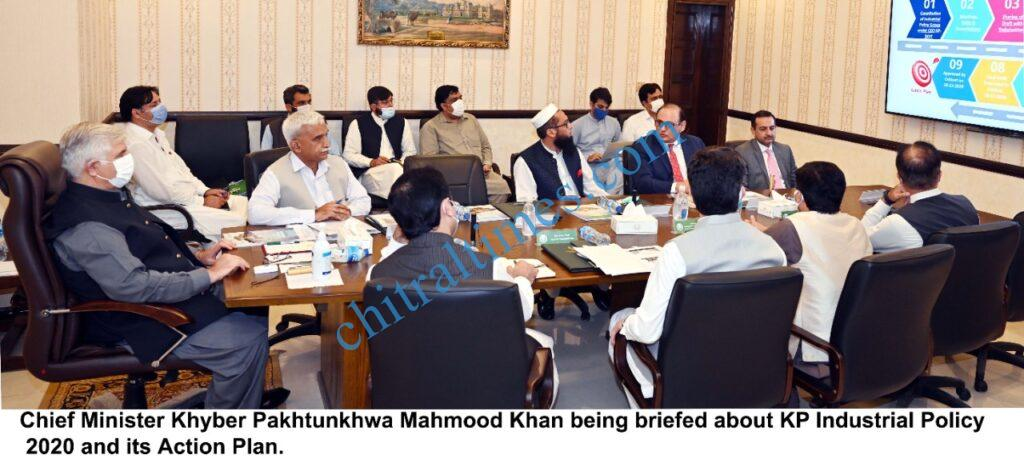 chitraltimes mahmood khan cm kp chaired meeting on indurstrial policy scaled