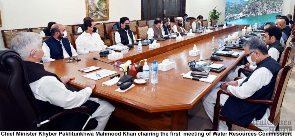 chitraltimes cm kp chaired first meeting of Water resources commission scaled
