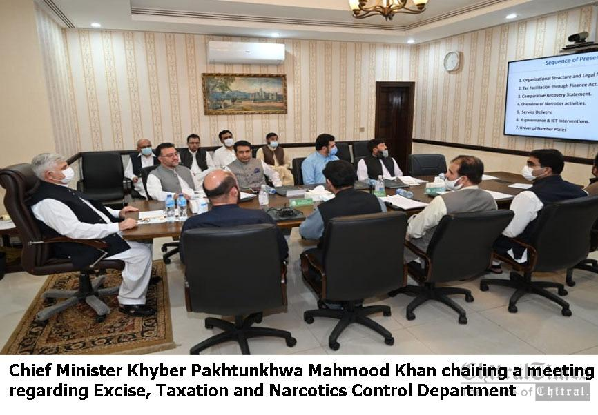 cm kp chaired meeting of excise taxation and narcotics control deparment