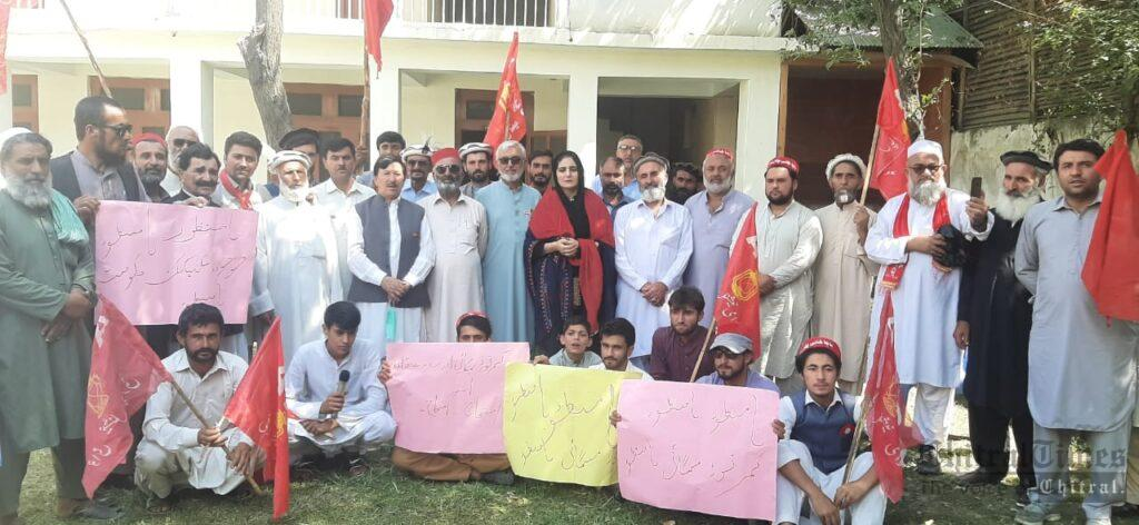 chitraltimes anp chitral protest against price high scaled