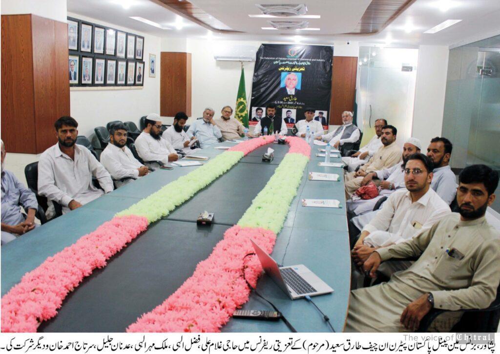 chitraltimes fpcci peshawar taziati refrence for tariq saeed late scaled